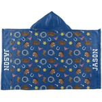Blue Western Kids Hooded Towel (Personalized)