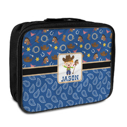 Blue Western Insulated Lunch Bag (Personalized)