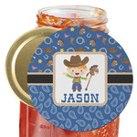 Blue Western Jar Opener (Personalized)