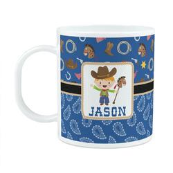 Blue Western Plastic Kids Mug (Personalized)