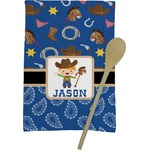 Blue Western Kitchen Towel - Full Print (Personalized)