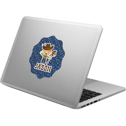 Blue Western Laptop Decal (Personalized)