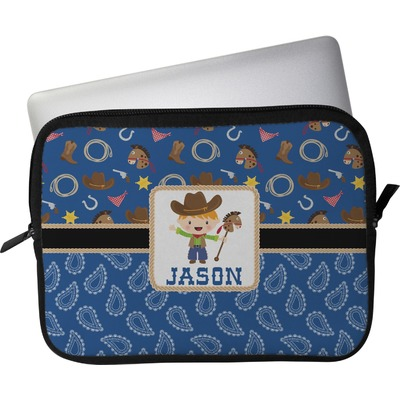 "Blue Western Laptop Sleeve / Case - 15"" (Personalized)"