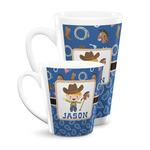 Blue Western Latte Mug (Personalized)