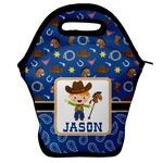 Blue Western Lunch Bag w/ Name or Text