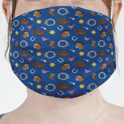 Blue Western Face Mask Cover (Personalized)