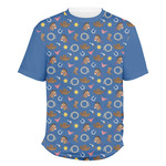 Blue Western Men's Crew T-Shirt (Personalized)