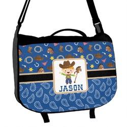 Blue Western Messenger Bag (Personalized)