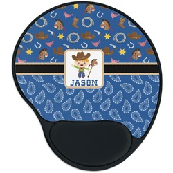 Blue Western Mouse Pad with Wrist Support