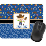 Blue Western Mouse Pad (Personalized)