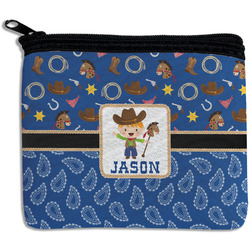 Blue Western Rectangular Coin Purse (Personalized)