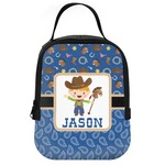 Blue Western Neoprene Lunch Tote (Personalized)