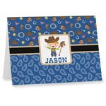 Blue Western Notecards (Personalized)