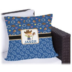 Blue Western Outdoor Pillow (Personalized)