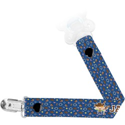 Blue Western Pacifier Clips (Personalized)