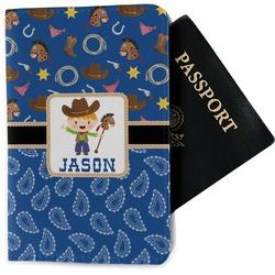 Blue Western Passport Holder - Fabric (Personalized)