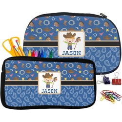 Blue Western Pencil / School Supplies Bag (Personalized)