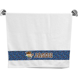 Blue Western Bath Towel (Personalized)
