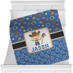 Blue Western Blanket (Personalized)