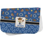 Blue Western Burp Cloth (Personalized)