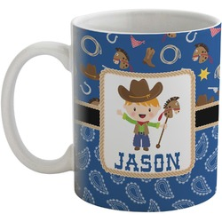 Blue Western Coffee Mug (Personalized)