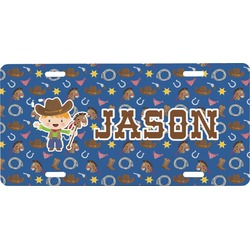 Blue Western Front License Plate (Personalized)