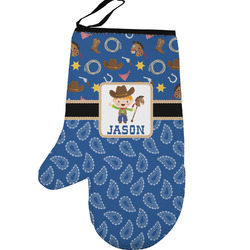 Blue Western Left Oven Mitt (Personalized)