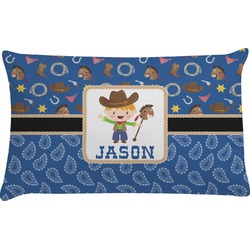 Blue Western Pillow Case (Personalized)