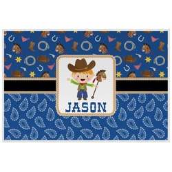 Blue Western Placemat (Laminated) (Personalized)