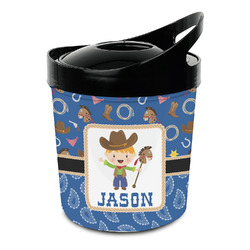 Blue Western Plastic Ice Bucket (Personalized)