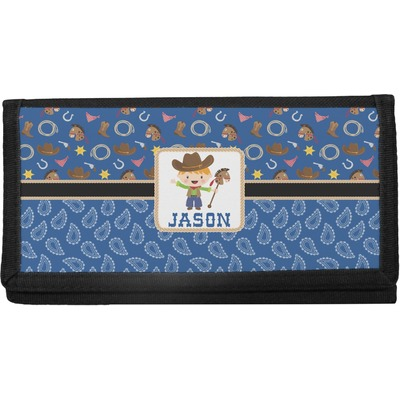 Blue Western Canvas Checkbook Cover (Personalized)