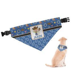 Blue Western Dog Bandana (Personalized)