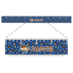 """Blue Western Plastic Ruler - 12"""" (Personalized)"""