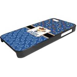 Blue Western Plastic iPhone 5/5S Phone Case (Personalized)