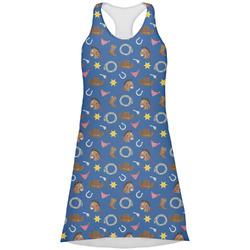 Blue Western Racerback Dress (Personalized)