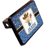 """Blue Western Rectangular Trailer Hitch Cover - 2"""" (Personalized)"""