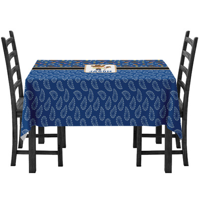 Blue Western Tablecloth (Personalized)