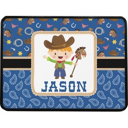 Blue Western Rectangular Trailer Hitch Cover (Personalized)