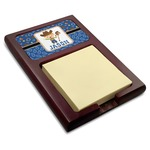 Blue Western Red Mahogany Sticky Note Holder (Personalized)