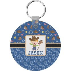 Blue Western Keychains - FRP (Personalized)