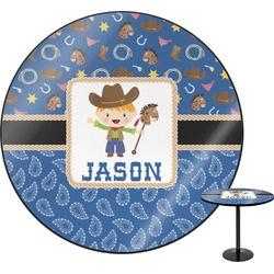 Blue Western Round Table (Personalized)