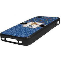 Blue Western Rubber iPhone Case 4/4S (Personalized)
