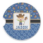 Blue Western Sandstone Car Coasters (Personalized)