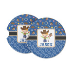 Blue Western Sandstone Car Coasters (Personalized)