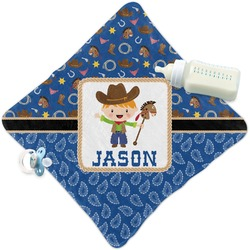 Blue Western Security Blanket (Personalized)
