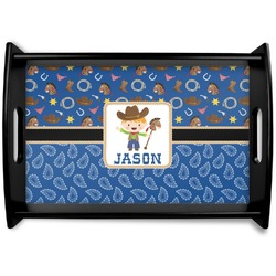 Blue Western Wooden Trays (Personalized)