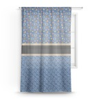 Blue Western Sheer Curtains (Personalized)