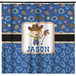 Blue Western Shower Curtain (Personalized)