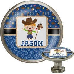 Blue Western Cabinet Knobs (Personalized)