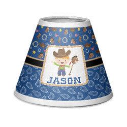 Blue Western Chandelier Lamp Shade (Personalized)